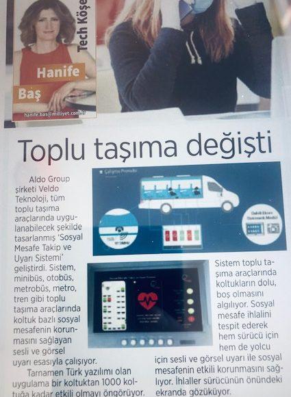 Milliyet Gazetesi'nin Sosyal Mesafeye Tekno Takip haberi görseli